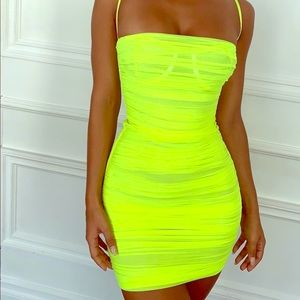 House of CB neon lime dress. Brand new.